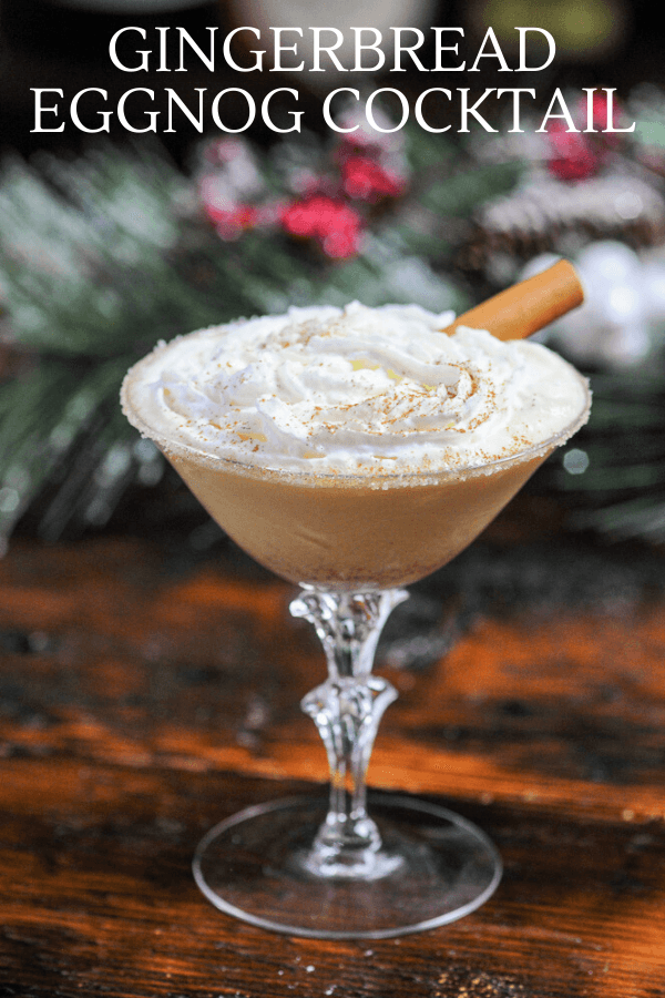 Photo of Gingerbread Eggnog Cocktail