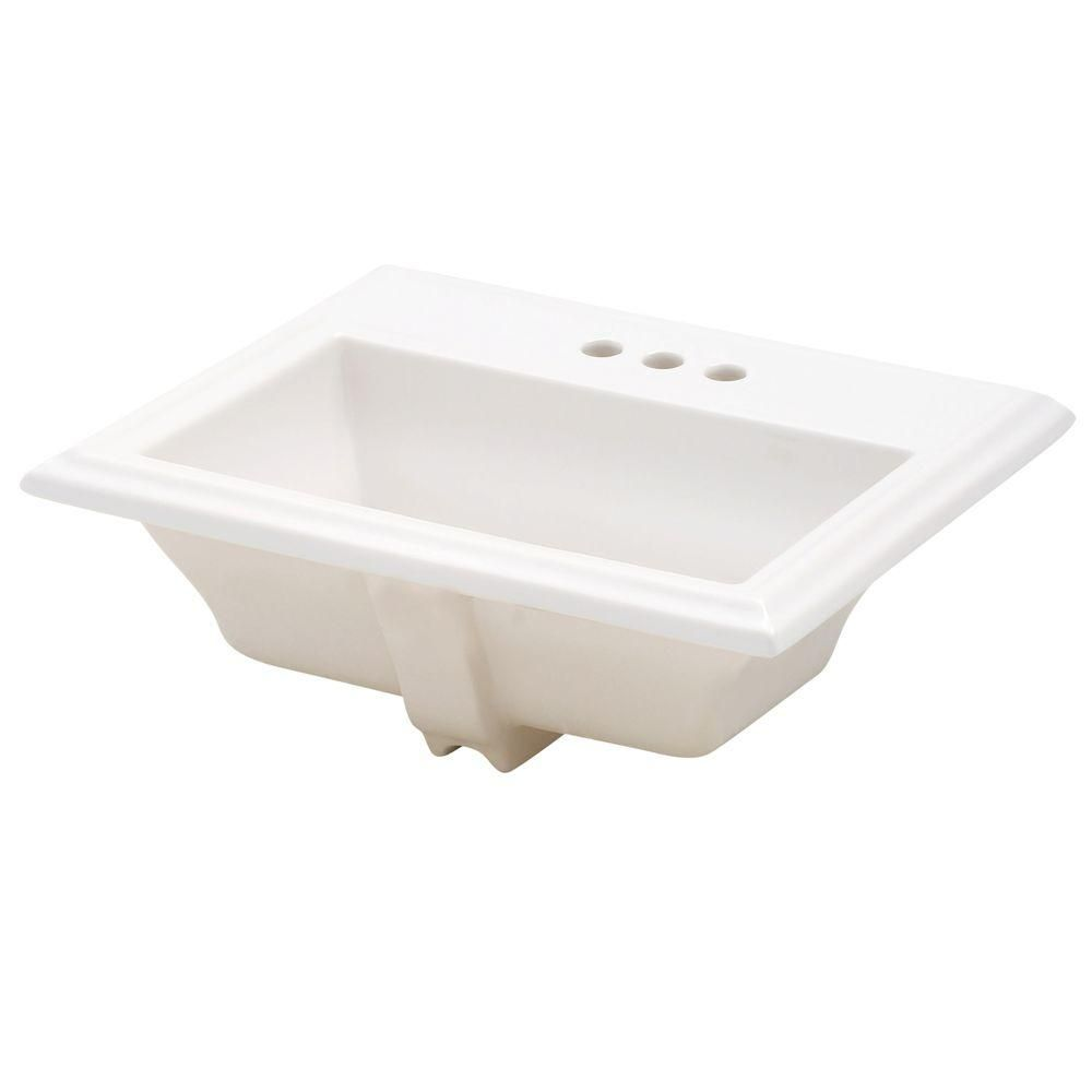 American Standard Town Square Self-Rimming Drop-In Bathroom Sink and ...