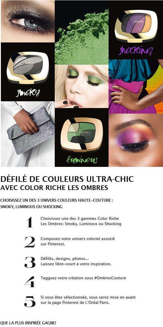 Participez Au Jeu Pinterest Ombrescouture De L Oreal Paris Conseils Beaute Coiffure Et Beaute L Oreal