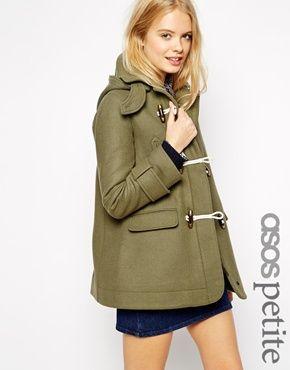 Enlarge ASOS PETITE Swing Duffle Coat in Wool Twill   other ...