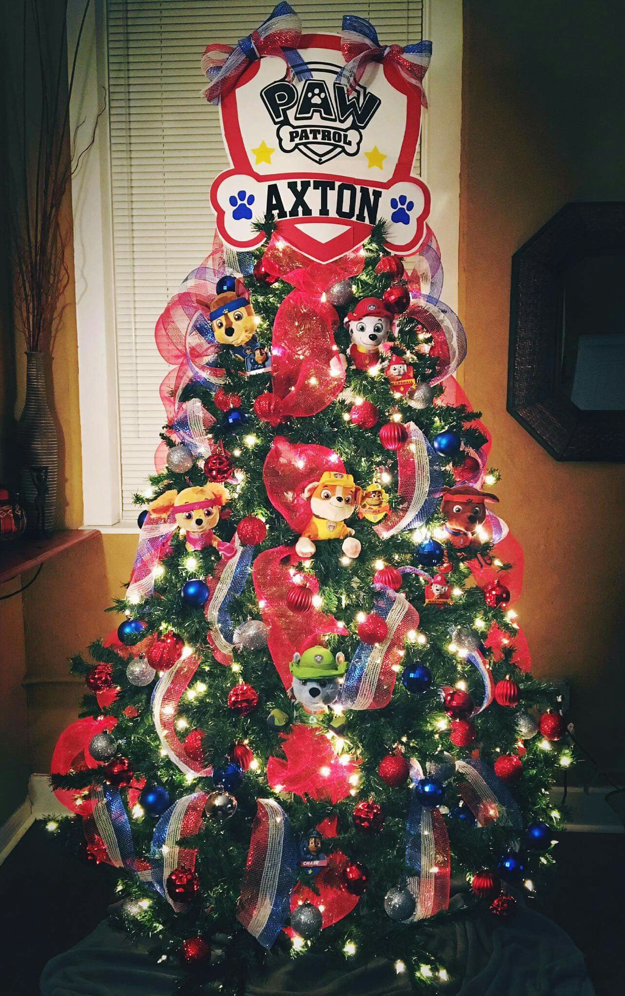 paw patrol christmas tree - Paw Patrol Christmas Decorations