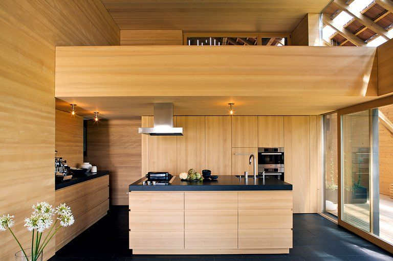 Küche Aus Weißtanne   Küchen In Architektenhäusern 18   [SCHÖNER WOHNEN]