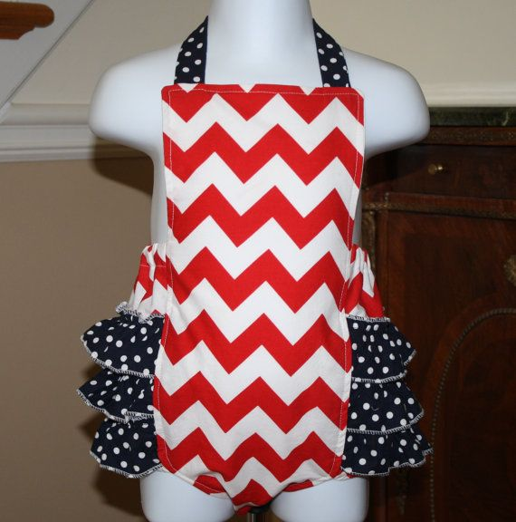 5c0511d3b6bc chevron ruffled bubble romper sunsuit fourth of july memorial day july 4th  red white blue baby