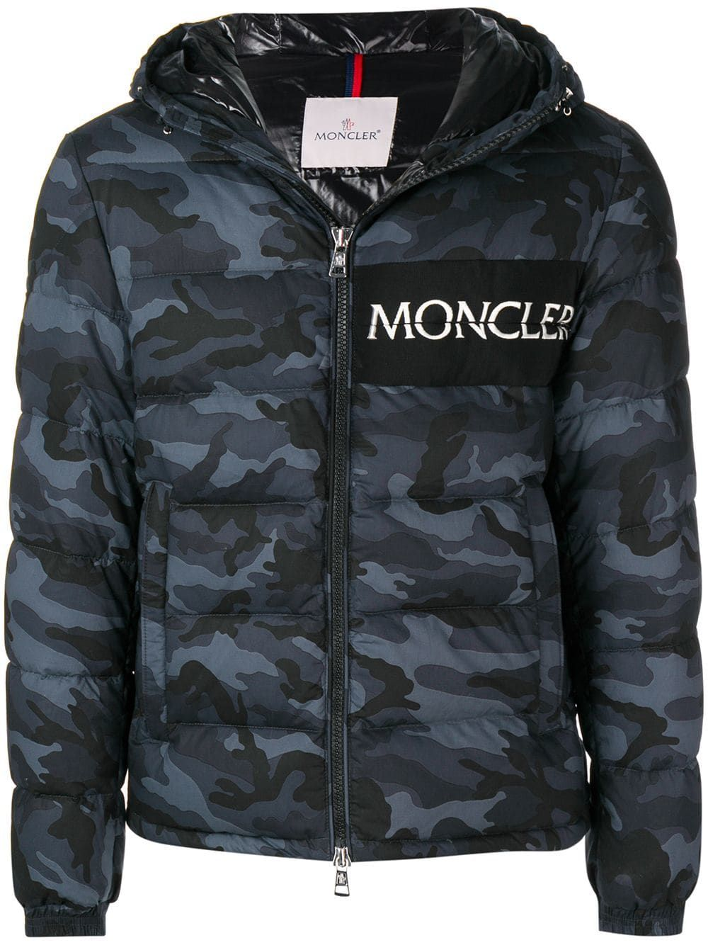 8e8c51377cfee MONCLER MONCLER CAMOUFLAGE PRINT PUFFER JACKET - BLUE. #moncler #cloth