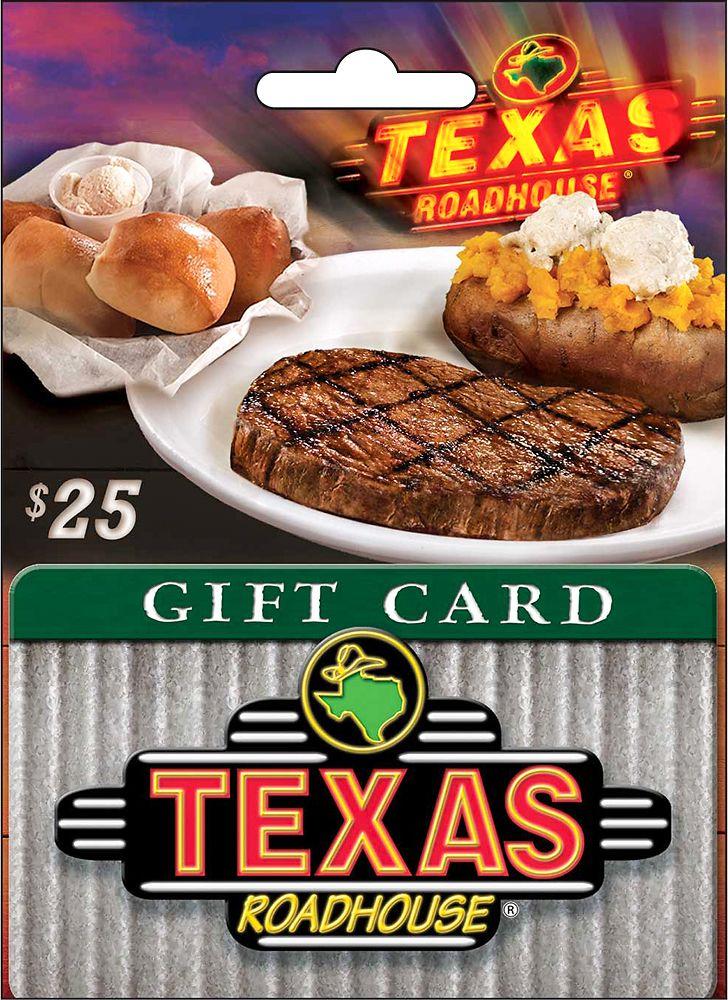 Texas roadhouse 25 texas roadhouse gift card texas
