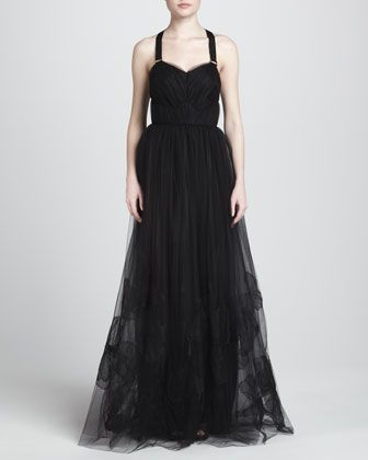 Tulle Gown with Halter Harness by Jason Wu at Neiman Marcus.