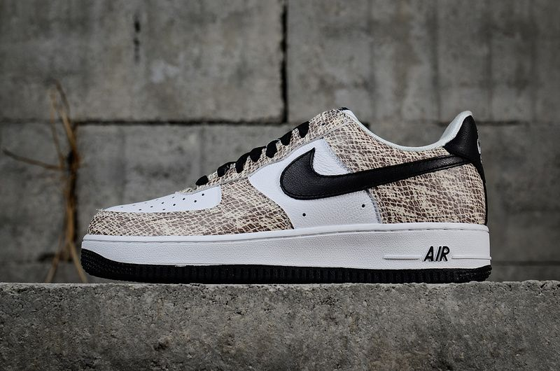 Officiel Nike Air Force 1 Low Cocoa Snake 845053 104 Youth