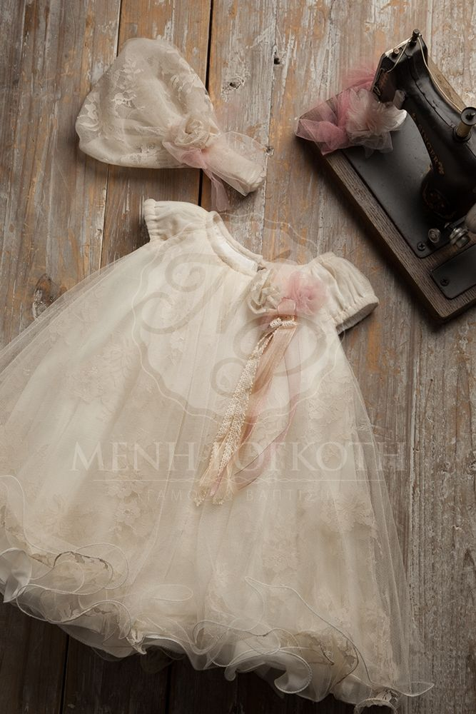 abdce79bf27 Βαπτιστικά ρούχα για κορίτσι της Vanessa Cardui | Baptism clothes ...