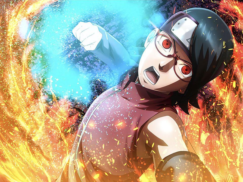 Sarada Genin Card 5 Nxb Ninja Voltage By Maxiuchiha22 On Deviantart In 2021 Uchiha Naruto Anime Naruto