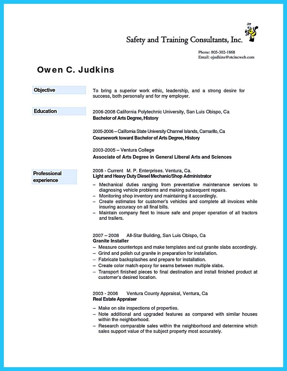 cool Writing Your Great Automotive Technician Resume ...