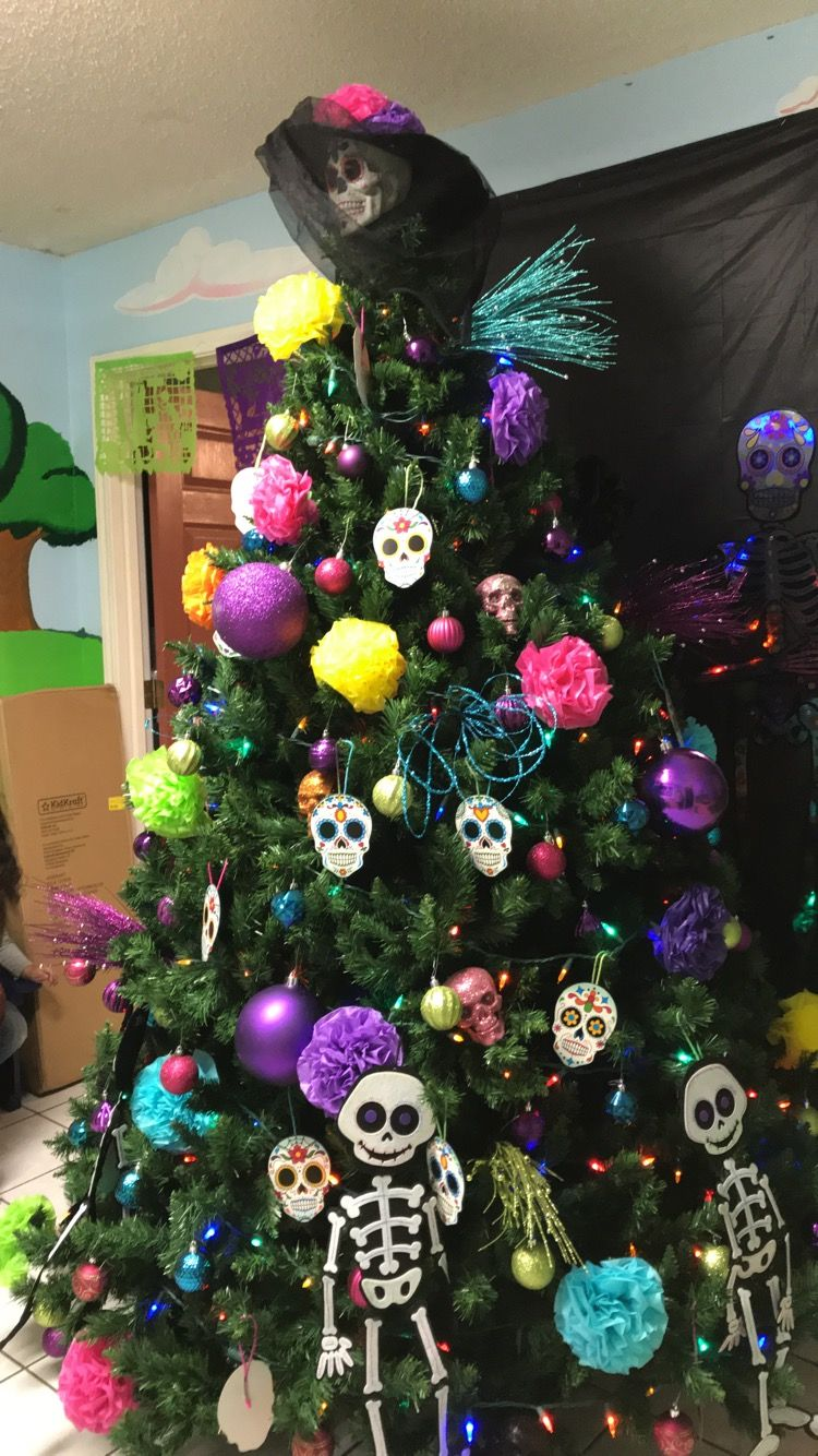 Day of the dead christmas tree christmas decorations