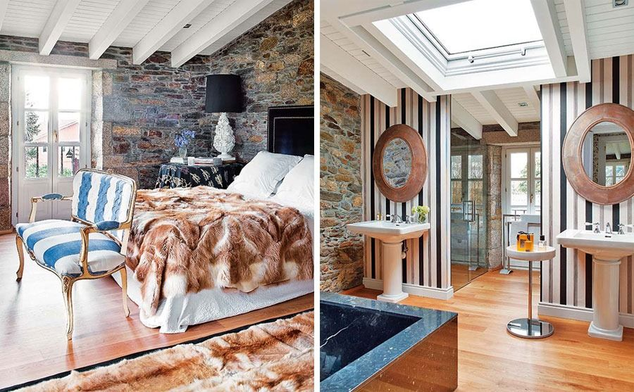 Exceptional Charming Old House Renovation By Keeping The Stone Interior Walls