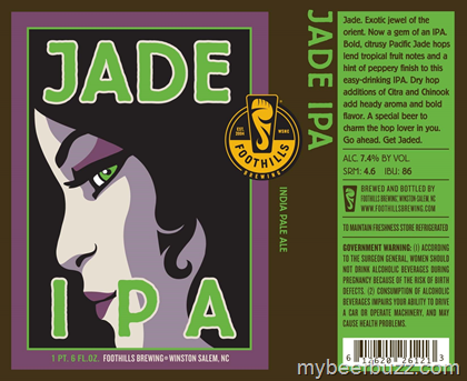 Image result for FOOTHILLS JADE IPA