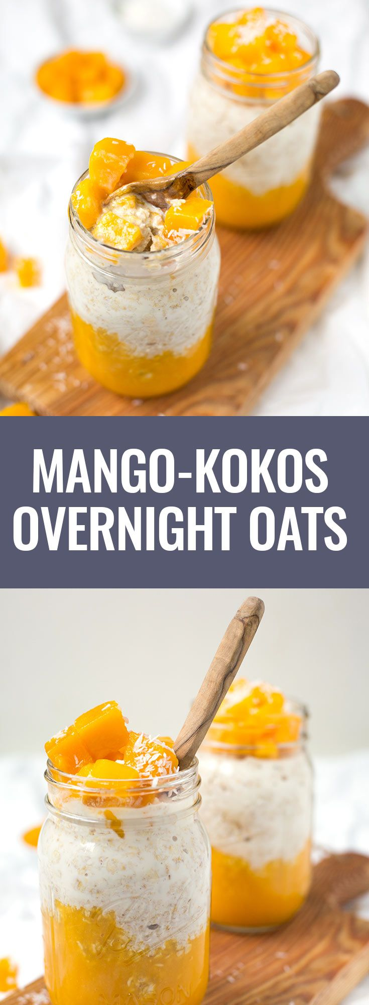 Mango Kokos Overnight Oats aus 5 Zutaten - Kochkarussell