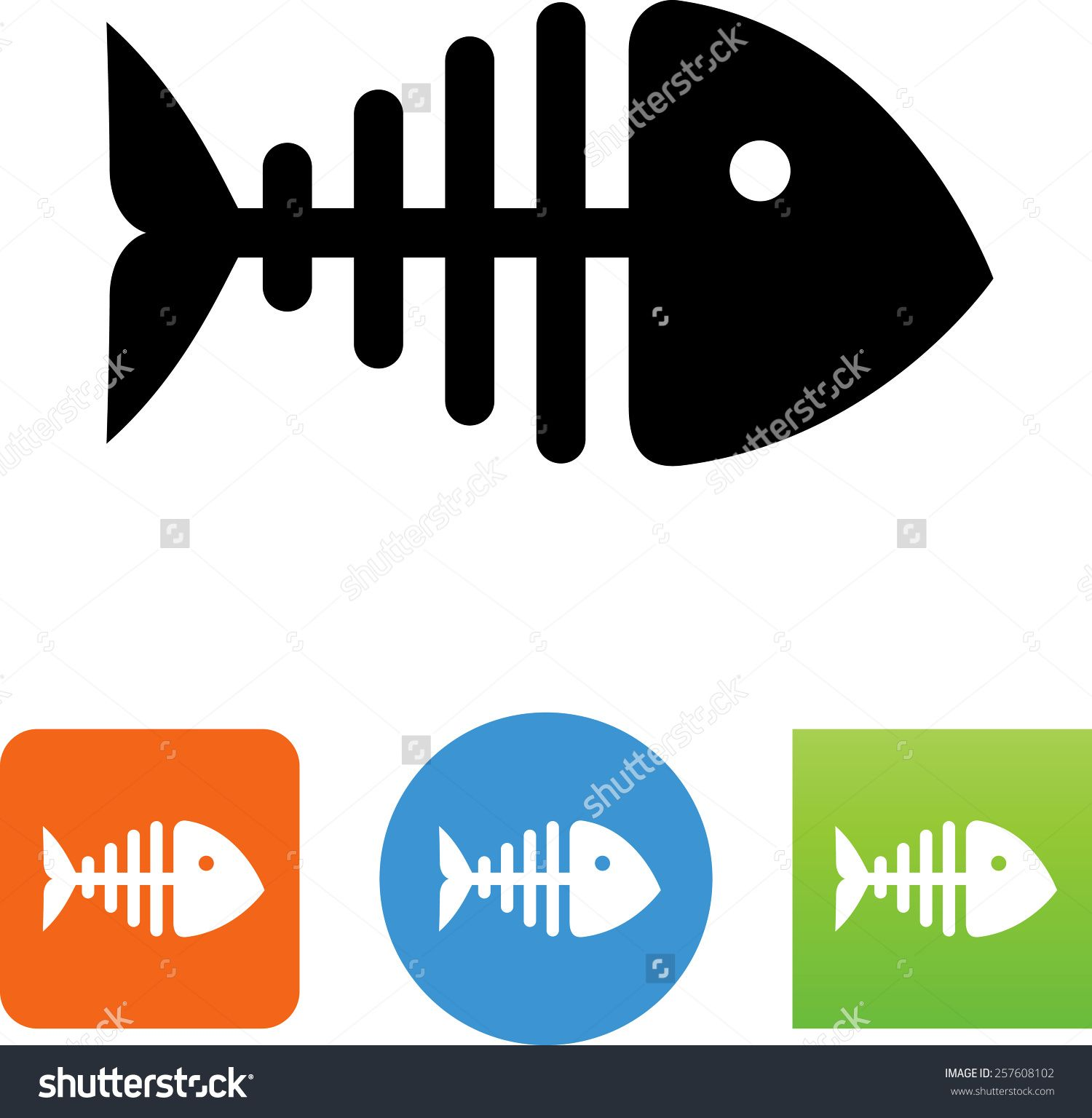 Fish skeleton symbol for download vector icons for video mobile fish skeleton symbol for download vector icons for video mobile apps web sites buycottarizona Images