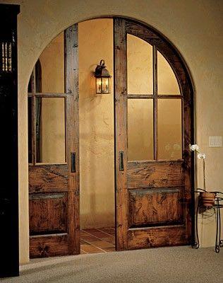 Arched Pocket Sliding Doors Interior Barn Doors Pinterest