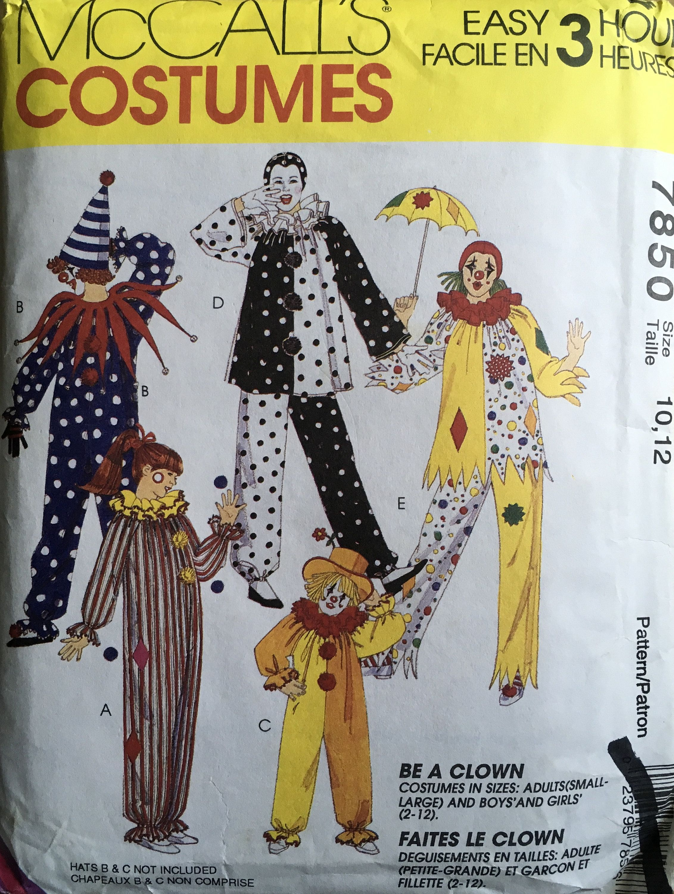 Mccall Patterns Halloween 2020 McCall's 7850 Sewing Pattern (Vintage) UNCUT in 2020 | Halloween