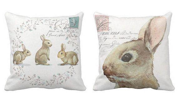 Oreiller couverture Bunny lapin Pâques ou décor de par JolieMarche