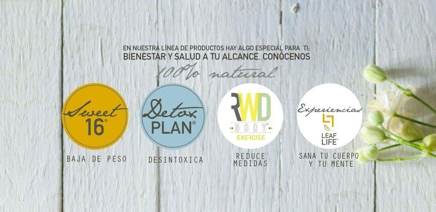 Nuestros productos. 100% naturales. Tes y Cremas Reductivas
