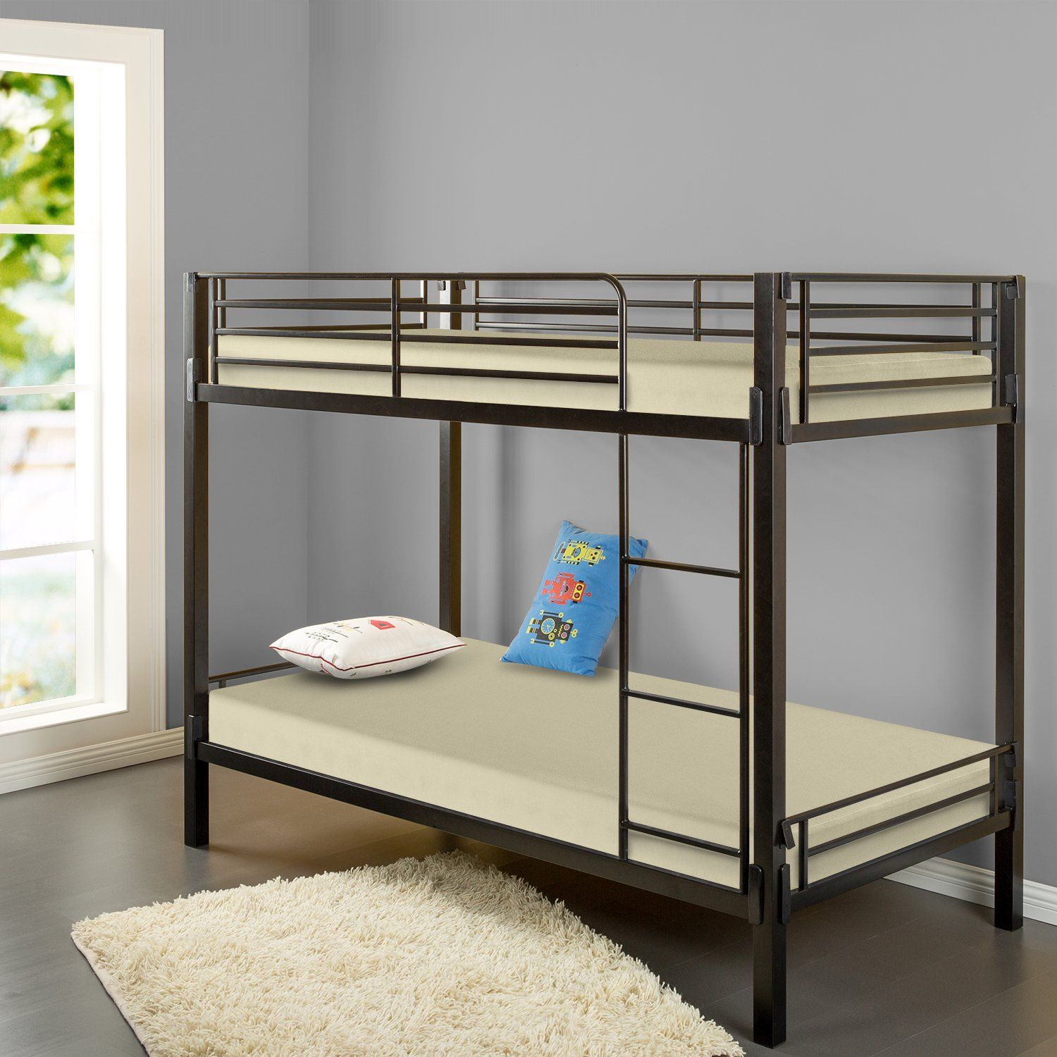 sleep master memory foam 5 inch bunk bed trundle bed day bed