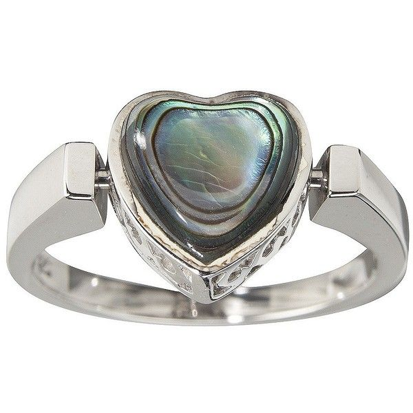 Sterling Silver Abalone Reversable Heart Ring ($20) ❤ liked on Polyvore featuring jewelry, rings, heart ring, sterling silver heart ring, sterling silver rings, heart shaped jewelry and reversible ring