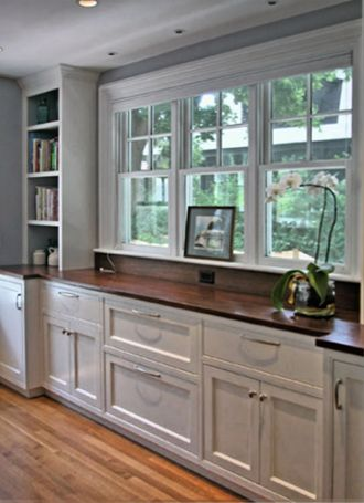 Built in sideboard for the dining room a home of my own for Built in dining room buffet ideas