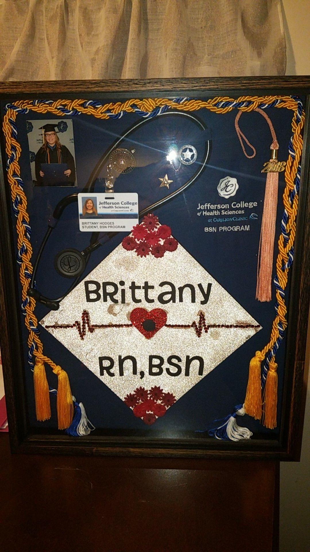 My Nursing School Shadow Box Thank You Hobby Lobby And Michael S Shadow Box Graduation Nurse Graduation Cap Nursing School Graduation