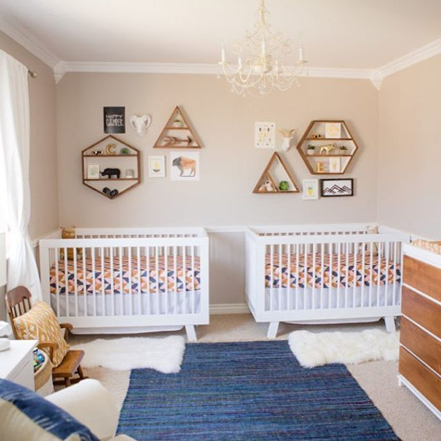 Double The Love For This Modern Boho Nursery From