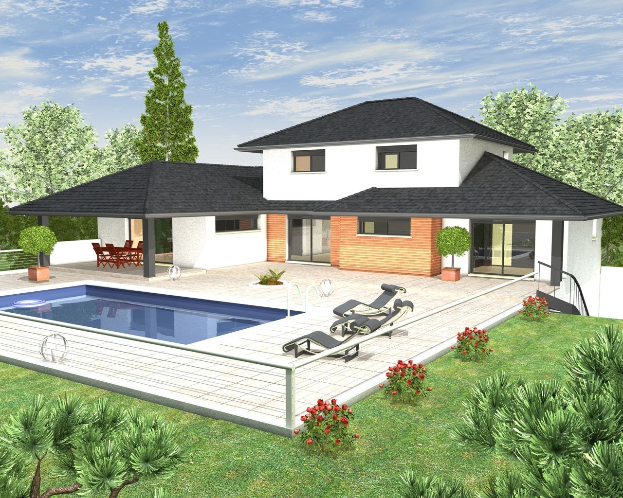 Mod les et plans de maisons mod le tage inspiration for Plan de maison contemporaine a etage