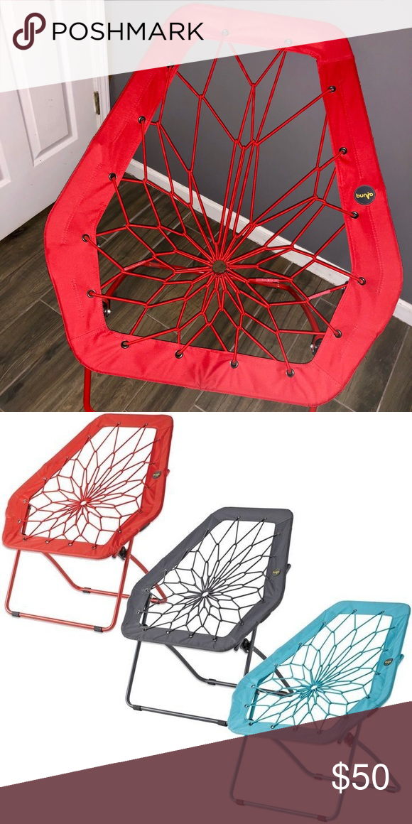 Bunjo Oversized Bungee Hex Chair (Red) Chair, Bungee