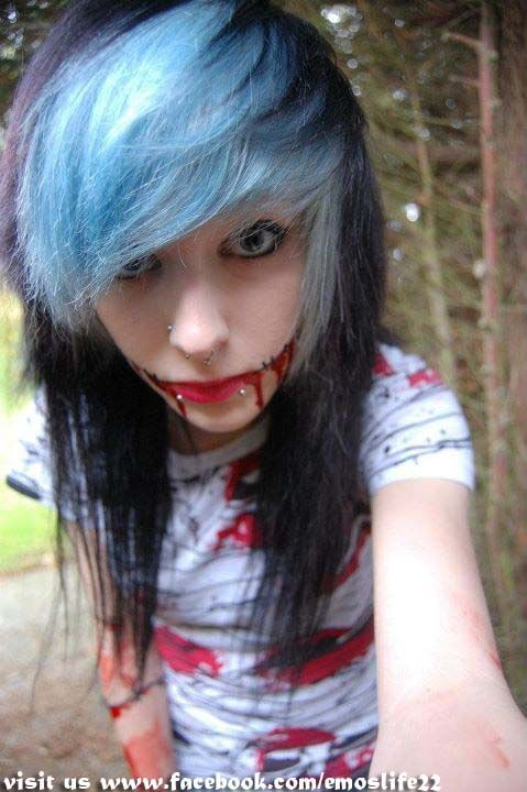 scene girl cute hair style | EMO:means emotional, then ...