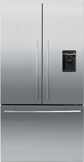 Fisher Paykel Rf201adusx5 20 1 Cu Ft Stainless Steel Counter Depth French Door Refrig French Doors Freestanding Fridge Counter Depth French Door Refrigerator