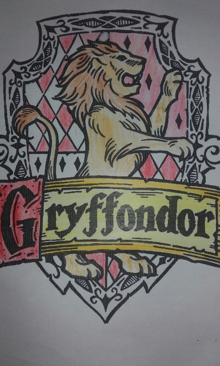 Blason Gryffondor Coloriage Serdaigle Harry Potter Griffondor