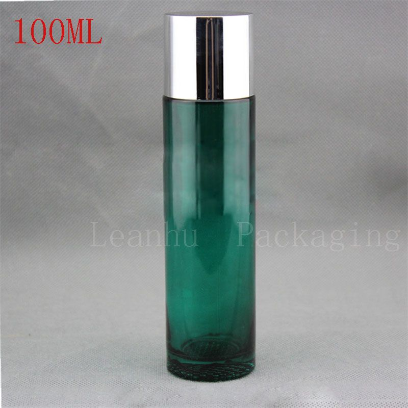 dda364cacc49 100ML Green Glass Airless Cosmetic Bottles,Lotion Bottles , DIY ...