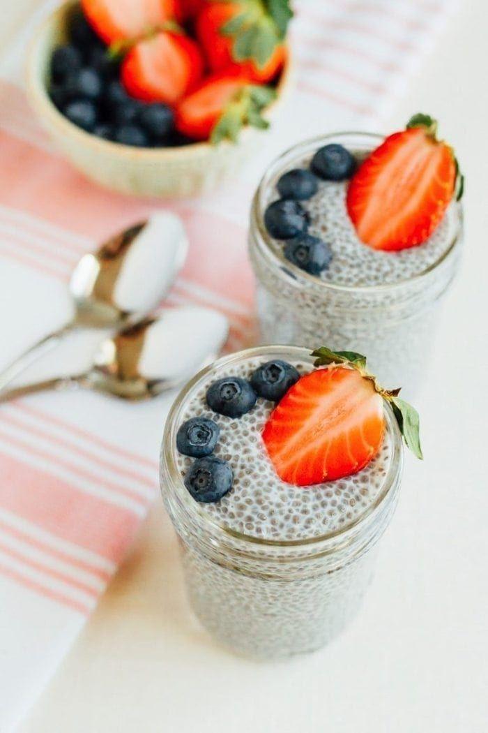Chia Seed Pudding // Volume Eating Recipe #chiaseedpudding