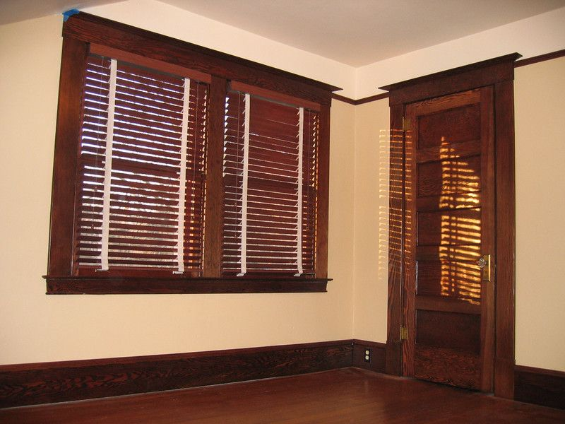 White Blinds With Brown Trim Google Search