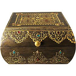 Wooden Decorative Boxes Overstock  This Elegant Box Is A Reflection Of The Opulence From
