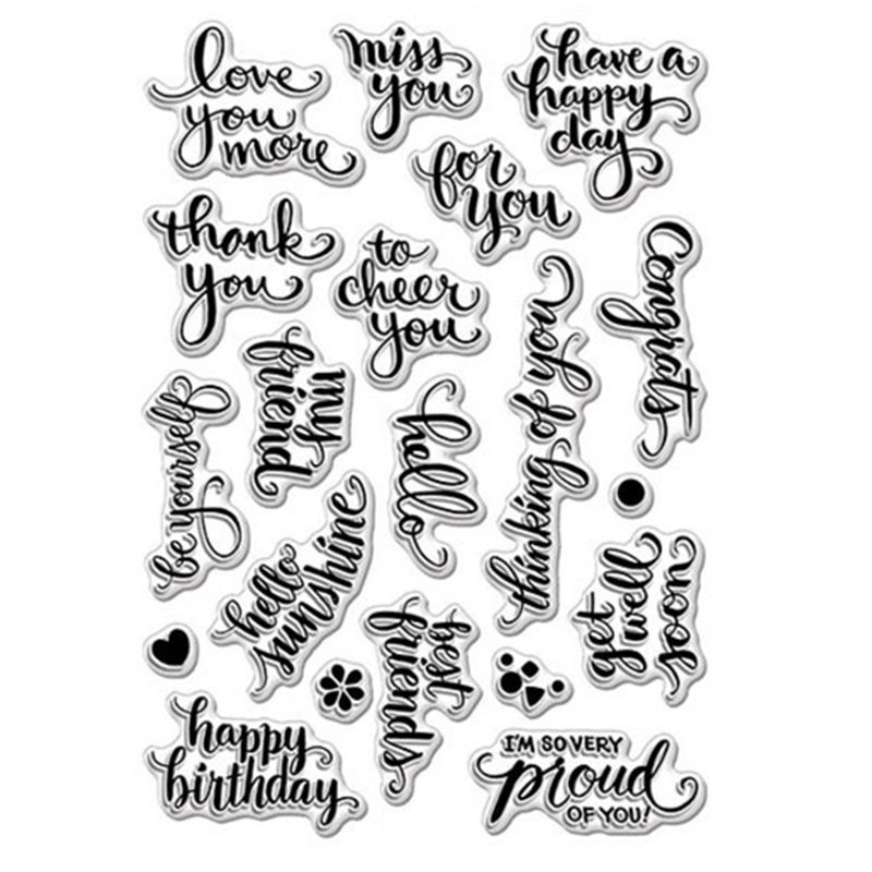 Greetings Best wishes Transparent Clear Silicone Stamp//Seal for DIY scrapbooking