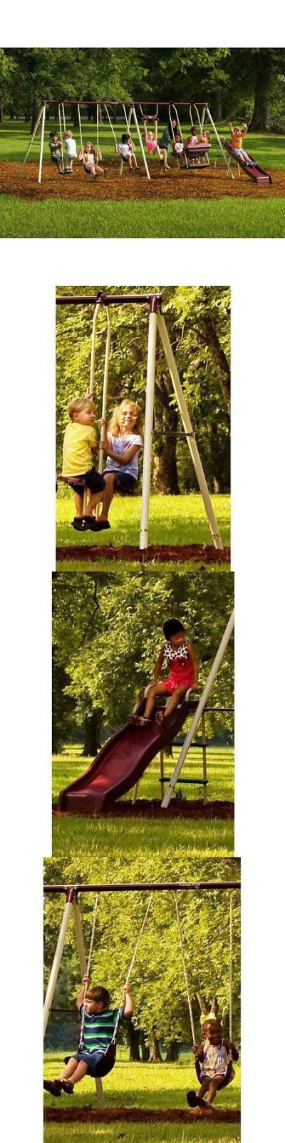 Swings Slides And Gyms 16515 Flexible Flyer Play Park Metal Swing