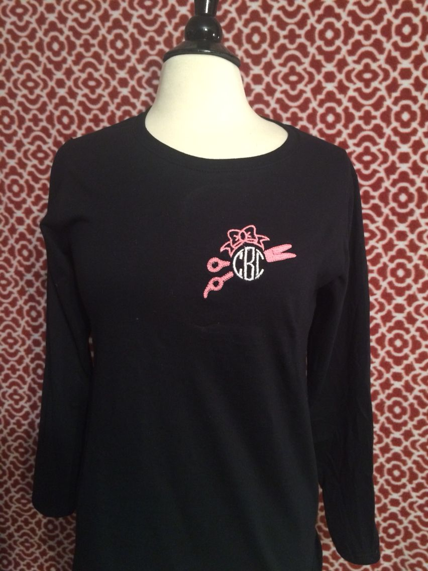 Pocket Size Hair Dresser Monogram Shirt Made By Taylormadecreations