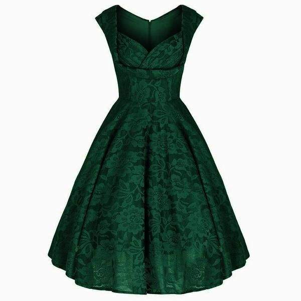92cd444d55 Absolutely Stunning Green Embroidered Lace Dress Gorgeous Gathered  Sweetheart Bust With Padded Bust Support - The