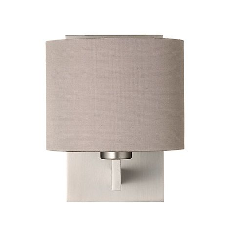 Astro olan wall light with silk shade nickeloyster lighting buy astro olan wall light with silk shade nickeloyster from our wall lighting range at john lewis aloadofball Choice Image