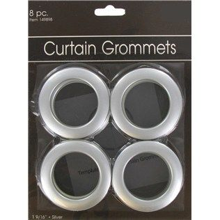 1 9 16 Silver Curtain Grommets Shop Hobby Lobby Silver Curtains Grommet Curtains Lined Curtains