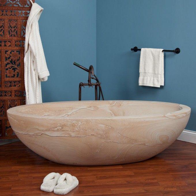 "72"" nubian sandstone tub - bathroom   bathroom remodel   bathroom"