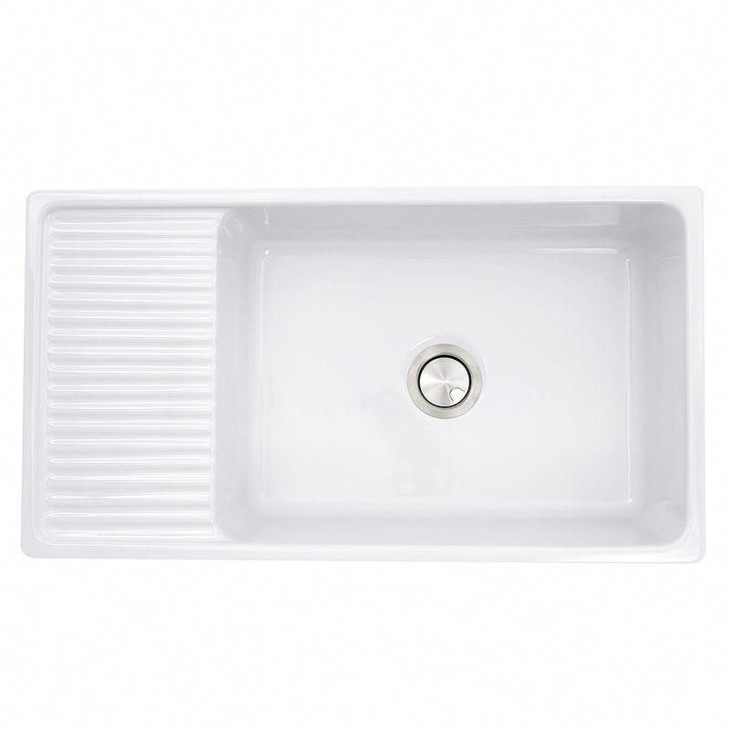 Nantucket Sinks Cape 36 L X 20 W Farmhouse Apron Sink With Built In Drainboard Reviews Perigol In 2020 Farmhouse Sink Kitchen Sink Eco Friendly Kitchen