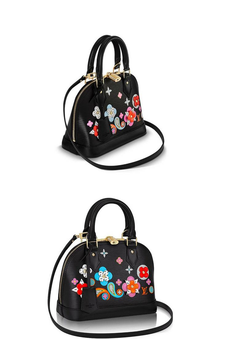 ab59c440baa6 Louis Vuitton handbags for women   Louis Vuitton Epi Leather Cross Body  Handbag Alma BB Noir Article  M54836 Made in France . (affiliate link )