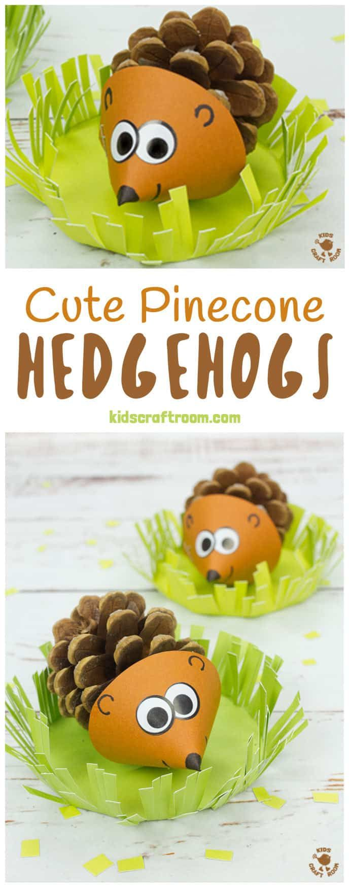 Cute Pinecone Hedgehogs #fall