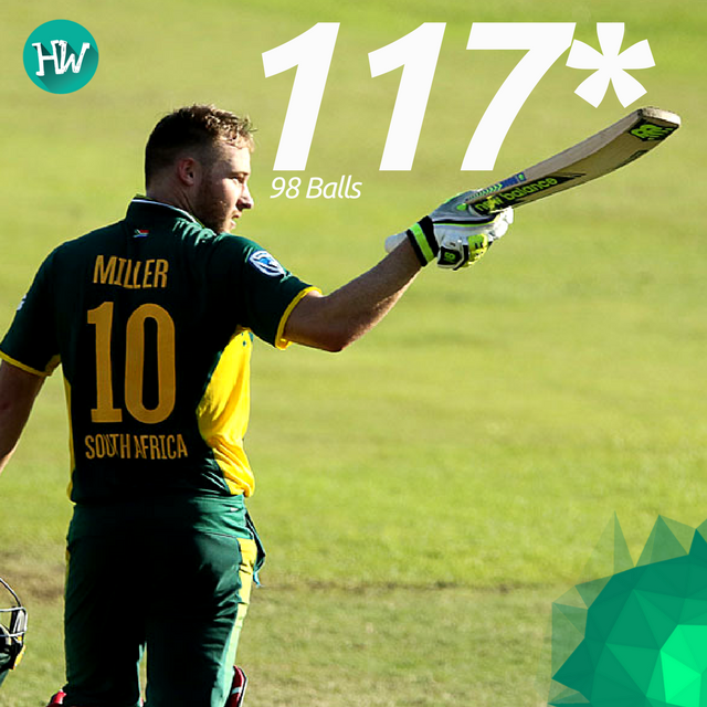 David Miller played a mature innings to take South Africa to a strong score of 307! #SAvSL#SA #SL #cricket