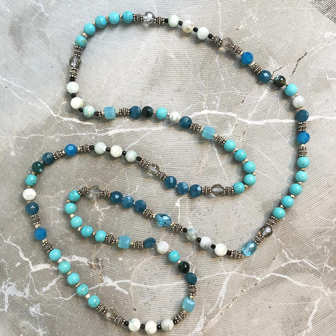 Turquoise Marble Strand Necklace