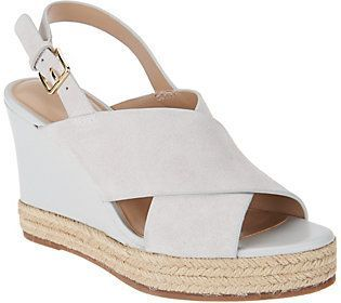 H by Halston Slingback Crossover Espadrille Wedges - Stella 2014 cheap sale VpVGDeS3